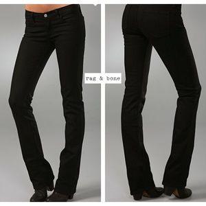 rag & bone Jeans - $195~Rag & Bone~Black Stiletto Boot Cut Jeans~28